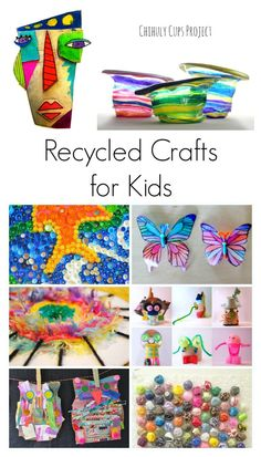 Amazing Recycled Crafts for Kids! A great activity for Earth Day!