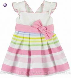 Stripe Dress - MAYORAL 3921 - Little Cherubs Clothing