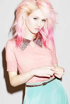 Pastel pink hair. Achieve pastels like this with semi-permanent dye on light blonde hair...