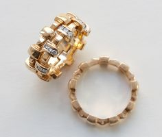 CHANEL 'Palissade' gold and diamond rings