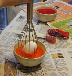 Coloring easter eggs-- this is VERY helpful with children!! We did it last year and will do it again this year.