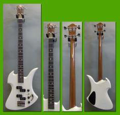 1984 B.C. Rich Mockingbird Bass White Pearl