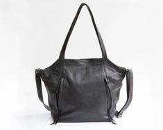 dea5142eb005 Mayko bags. Black leather Tote bag ...