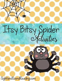 Preschool or Kindergarten Activity: Itsy Bitsy Spider Activities - Fun activities that go along with the Itsy Bitsy Spider nursery rhyme.