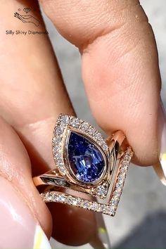 Tanzanite Engagement Ring, Tanzanite Ring, Dream Engagement Rings, Engagement Ring Settings, Vintage Engagement Rings, Jewelry Rings, Jewelery, Unique Jewelry, Classic Wedding Rings