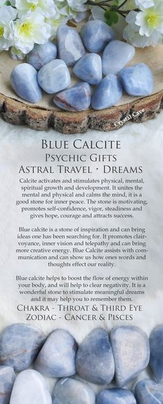 Blue Calcite Gemstone / Blue Calcite Tumbled Stone / Blue Calcite Cuddle Stone / Crystal for Psychic Gifts, Astral Travel Remembering Dreams / Blue Calcite Information / Blue Calcite Meaning / Blue Calcite Uses / Blue Calcite Stone / Metaphysical Store / Crystal Webstore / Crystal Cave / Throat Chakra / Third Eye Chakra / Cancer Zodiac Crystal / Pisces Zodiac Crystal