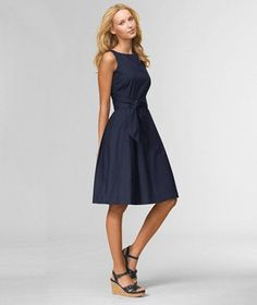 LL Bean Signature Poplin Dress (wore this to my step-daughter's VERY casual outdoor wedding with flat sandals)