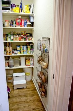 Magazine Rack Shelving: Not too shabby. As long as it keeps the roots veggies from spoiling.
