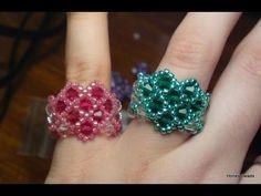 Cara Jahitan Manik : Beaded Heart Ring for Valentines Day Beading Tutorial by HoneyBeads -     - http://carajahitanmanik.com/cara-jahitan-manik-beaded-heart-ring-for-valentines-day-beading-tutorial-by-honeybeads/