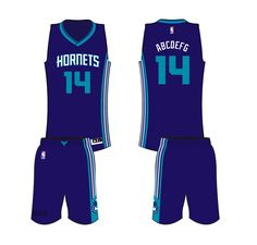 7460340e1 Charlotte Hornets Road Uniform 2015- Present Charlotte Hornets