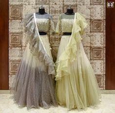 Indian Fashion Dresses, Indian Bridal Outfits, Indian Gowns Dresses, Indian Designer Outfits, Half Saree Lehenga, Lehnga Dress, Bridal Lehenga Choli, Designer Party Wear Dresses, Designer Wear