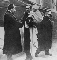 1905: Norway's Prime Minister greets the new King and Crown Prince. 25th November.