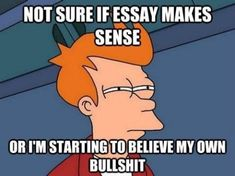 Not sure if essay makes sense...or I'm starting to believe my own bullshit. Oh, the perks of being an English major! Having the ability to bullshit anything and everything!