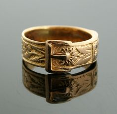Antique Buckle Ring 18k Yellow Gold