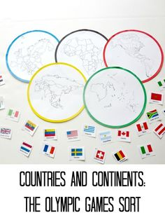 Match countries to continents with this free Olympic Games printable