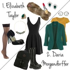 Top 10 Last-Minute DIY Costume Ideas Using Your Favorite LBD! Elizabeth Taylor and Daria Morgendorffer