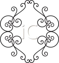 iCLIPART - Royalty Free Clip Art Illustration of a Delicate Swirly Frame