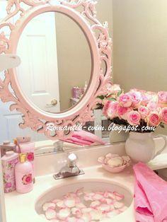 Pink bathroom decor on pinterest raised beds bedroom for Pink and orange bathroom ideas