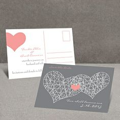 Heart Web - Save the Date Postcard at Invitations By Dawn