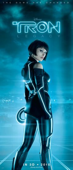 Tron's Quorra, played by Olivia Wilde. Talk about kick-ass and gorgeous! Also, very sweet. Lovely character.