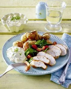 Ofen-Kartoffeln mit Kresse-Remoulade Rezept
