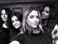 Troian Bellisario, Lucy Hale, Ashley Benson, and SHay Mitchell selfie!! #PLL