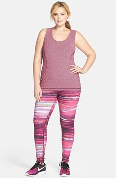 Zella 'Live In' Slim Fit Reversible Leggings (Plus Size) Plus Size Leggings, Trendy Plus Size Clothing, Plus Size Outfits, Plus Size Fashion, Rush Outfits, Sporty Outfits, Outfit Gym, Looks Academia, Gym Outfits