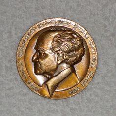 Antique  Judaica Israel Ben Gurion Medal Bronze Jewish