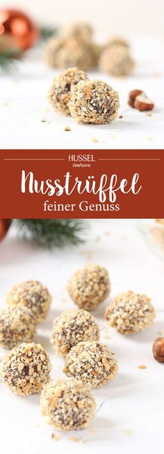 Nusstrüffel - Hussel Confiserie The finest chocolate truffles covered with crunchy hazelnuts. These homemade chocolates make every chocolate lover's heart beat faster. Homemade Hot Chocolate, Best Chocolate, How To Make Chocolate, Chocolate Truffles, Chocolate Lovers, Homemade Chocolates, Cake Chocolate, Sweets Recipes, No Bake Desserts