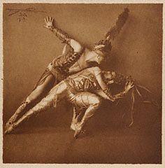 "Anna Pavlova and Hubert Stowitts in ""La Peri,"" Frans van Riel, 1919"