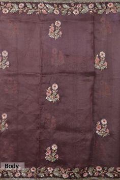 Salwar Suit Neck Designs, Neck Designs For Suits, Organza Saree, Tussar Silk Saree, Zardozi Embroidery, Beaded Embroidery, Long Anarkali Gown, Saree Blouse, Sari