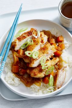 Golden crumbed chicken is made even tastier with a generous drizzle of a sweet curry sauce. Served on a bed of rice, this is one flavour-packed and filling dish that's perfect for families on a budget.