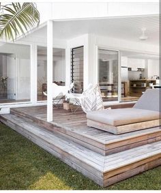 A covered platform deck offers protection from the elements. #outdoorIdeas