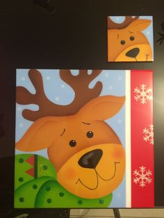 Individual y portavasos resinados Navidad Arte Country, Painting On Wood, Decor Crafts, Pikachu, Christmas Decorations, Painted Snowman, Picture On Wood, Holiday Pictures, Holiday Ornaments