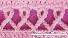 crochet headband with ribbon - YouTube