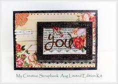 you*My Crative Scrapbook Limited Edition Kit Aug* - Scrapbook.com