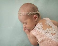 Cod 247Newborn Lace Romper baby bloomerbaby  baby tie back