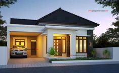 Two Bedroom Small House Design (PHD-2017035) – Amazing Architecture Magazine Two Story House Design, Simple House Design, House Front Design, Modern House Design, 3d House Plans, Craftsman House Plans, Small House Plans, Modern House Facades, Modern Bungalow House