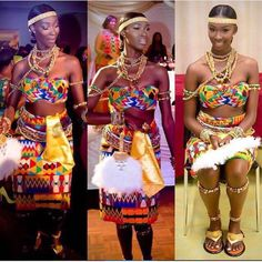 African Print Fashion Wear Attire Dress Style Traditional Wedding Dresses Ghana