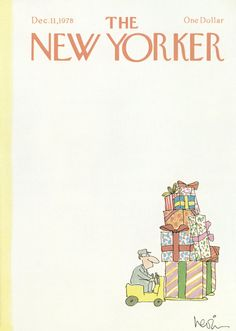 Arnie Levin : Cover art for The New Yorker 2808 - 11 December 1978