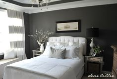 Dear Lillie: A Few Touches of Spring in Our Bedroom I am painting my master this color.. love it with the crisp white bedding!