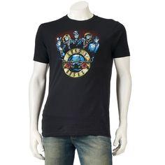 Men's Guns N' Roses Skull Tee, Size: Medium, Grey (Charcoal)