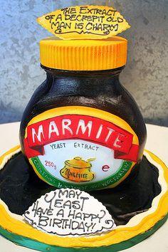 Marmite Jar | A 3-D cake as a Marmite Jar. For a man who eat… | Flickr