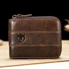 Bullcaptain Wallet RFID Genuine Leather Wallet - Banggood Mobile
