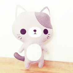 chat en peluche jouet peluche chat kawaii par littlehappystitches