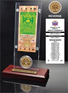 Super Bowl 29 Ticket & Game Coin Collection