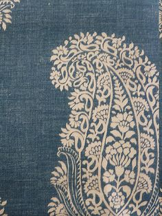 Paisley Ground - 04 - Denim - Click Image to Close Textiles, Textile Prints, Textile Patterns, Textile Design, Print Patterns, Paisley Wallpaper, Fabric Wallpaper, Pattern Wallpaper, Wallpaper Ideas