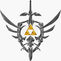 Sword, shield & tri-force