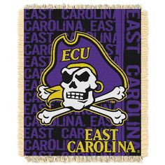East Carolina Pirates NCAA Triple Woven Jacquard Throw (Double Play Series) (48x60)