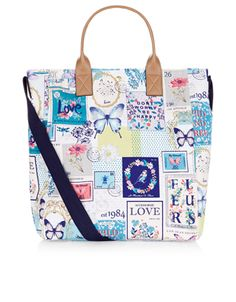 Ellie Pretty Pu Handle Shopper Bag | Multi | Accessorize
